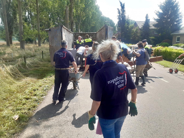Leger des Heils helpt getroffenen Limburg