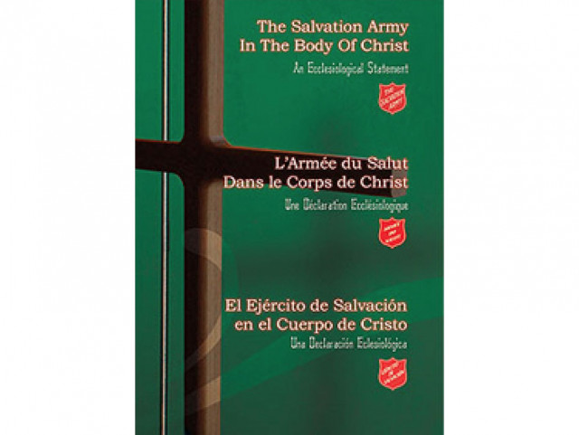 The Salvation Army In The Body Of Christ An Ecclesiological Statement