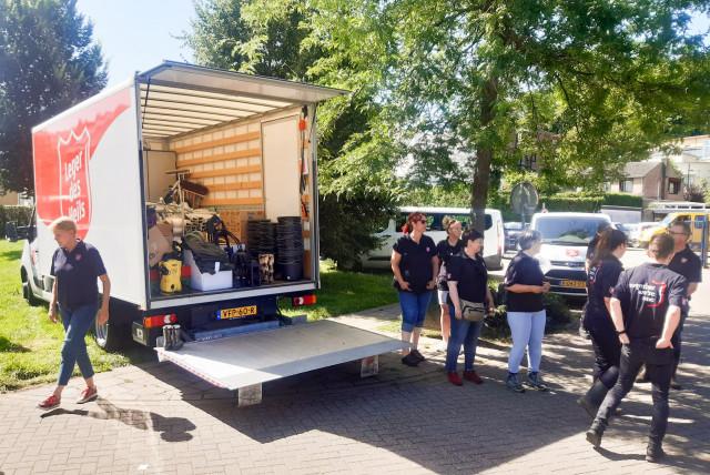 Leger des Heils Limburg schoonmaak ramp