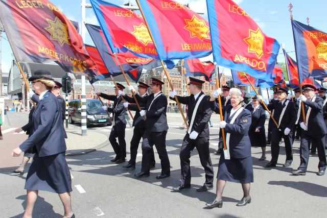 Leger des Heils vlaggen