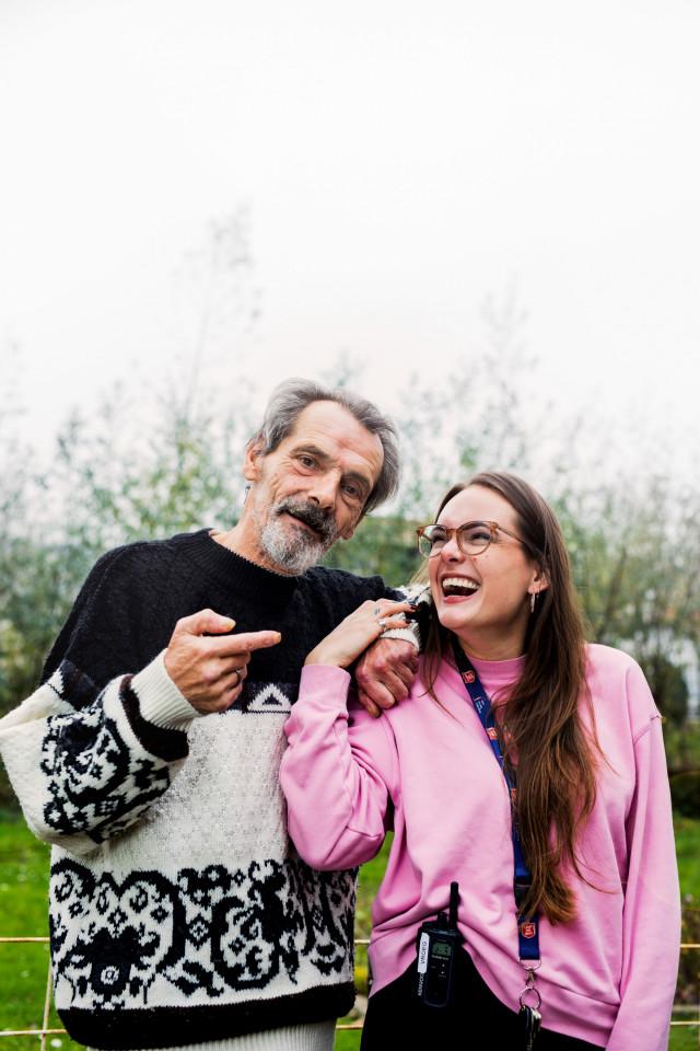 Deelnemer Aad en begeleider Lisa over hun bijzondere band