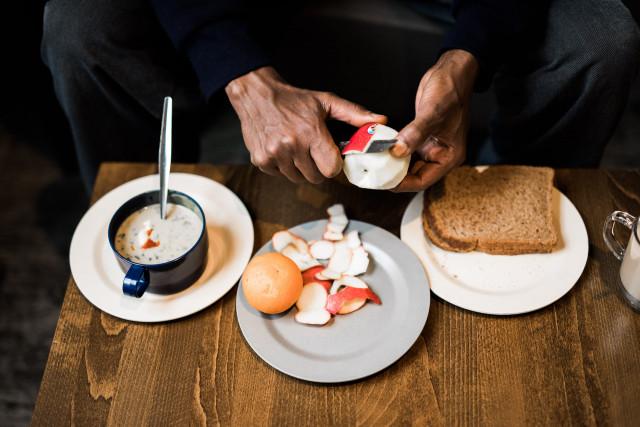 Daklozenopvang eten